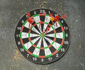 Dart in dartboard — Stock Photo