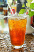 Iced tea with ice — Stock Photo