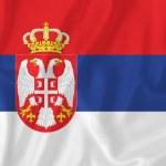 Serbia flag — Stock Photo