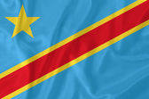 Democratic Republic of Congo flag — Stock Photo