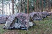 Camping zelte ich — Stockfoto