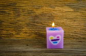 Pink Candle — Stock Photo