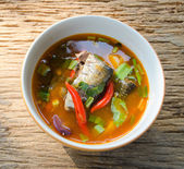 Spicy lemon grass soup Mackerel — Photo
