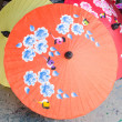 Hand painted Thai umbrellas,Chiang Mai,Thailand — Stock Photo #44207317