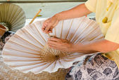 Umbrella made of paper crafts of the village Bo Sang, Chiang Mai — Stock Photo