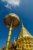 Golden pagoda wat Phra That Doi Suthep chiangmai Thailand  — Stock Photo