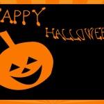 Halloween Card with Pumpkin — Stock Photo