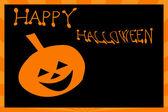Carte d'halloween à la citrouille — Photo