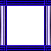 蓝色和棕色的纠缠的帧 — 图库照片
