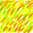 Colorful Brush Strokes on White Background - Stock Photo