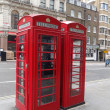 Typical red London telephone booth — Stock Photo