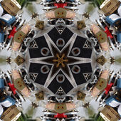 Estrella mandala colorido — Foto de Stock