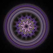 Purple Fractal Circle — Stock Photo