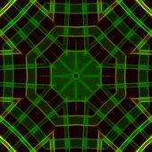 Shining Green Mandala — Stock Photo