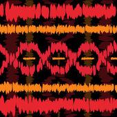 Kırmızı ve turuncu desen boyalı — Stok fotoğraf