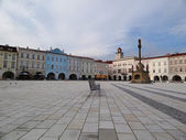 Novy Jicin Square, Czech Republic — Stock Photo