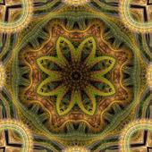 Fractal Mandala Flower — Stock Photo