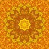 Red and Yellow Mandala Flower — Stock Photo