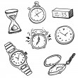Stock Vector: Set of clocks and watches