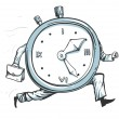 Stock Vector: Clock running out of time