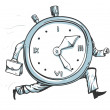 Clock running out of time — Stock Vector