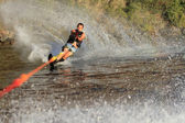 Water skiing in parker arizona — Stock Photo
