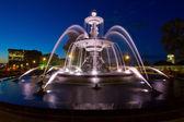 Temps d'exposition de fontaine dans la ville de québec — Photo