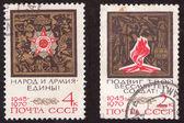 USSR - CIRCA 1970: Soviet old postage stamp circa 1970 — Foto de Stock
