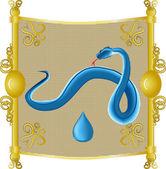 Vatten orm — Stockvektor