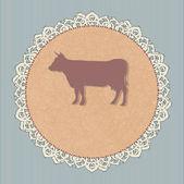 Hovězí maso — Stock vektor