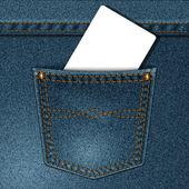 Bolso jeans — Vetor de Stock