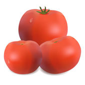Tre pomodori — Vettoriale Stock