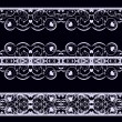 Royalty-Free Stock Vector Image: Lace on black