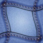 Jeans frame — Stock Vector
