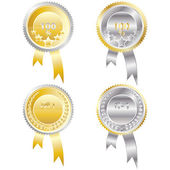 Four medals — Stock Vector
