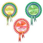 Three medals — Stock Vector