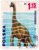 POLAND - CIRCA 1965: Brachiosaurus — Stockfoto