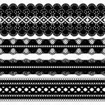 Four black ribbons — Stock Vector