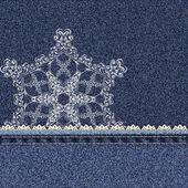 джинсовые кружево снежинка — Cтоковый вектор