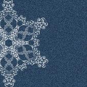 Denim snowflake — Stockvektor