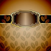 Vintage background with coffee beans. — Stock Vector