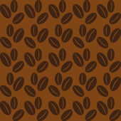 Seamless background with coffee beans. — Vetorial Stock