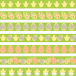Easter pale borders — Stock Vector #39037467