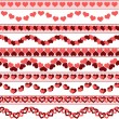 Valentines day borders — Stock Vector #39038715