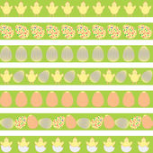 Easter pale borders — Stock Vector
