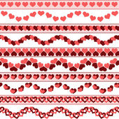 Valentines day borders — Stock Vector