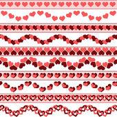 Valentines day borders — Stock Vector