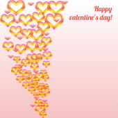 Valentines day colorful — Vector de stock