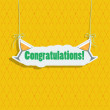 "Greeting card with signboard ""Congratulations."" — Stock Vector #39542941"