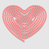 Heart of the folded rope. Valentines day background — Vecteur